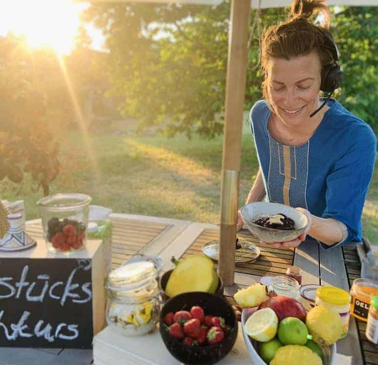 Online Ayurveda Frühstücks-Kochkurs Live aus dem Garten